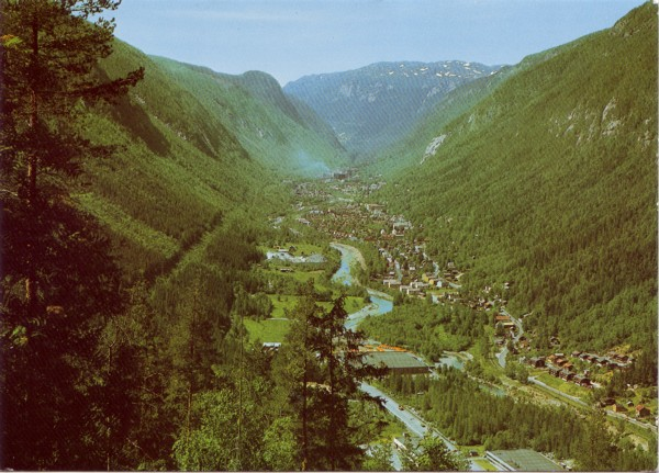 Rjukan. Utsikt over stedet. Norway View of Rjukan