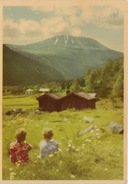 Norge. Rjukan. Gauatatoppen fra Miland.
