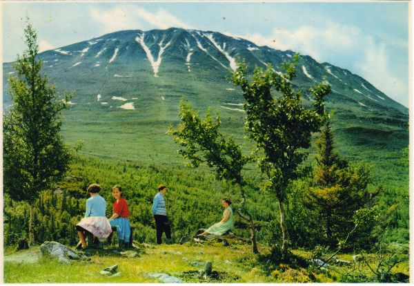 Norge: Telemark. Gaustatoppen 1883 m.o.h.
